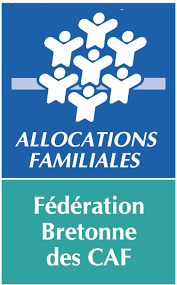 Logo de la fédération Bretonne des Caisse d'Allocations Familiales, soutien d'Info Jeunes Bretagne
