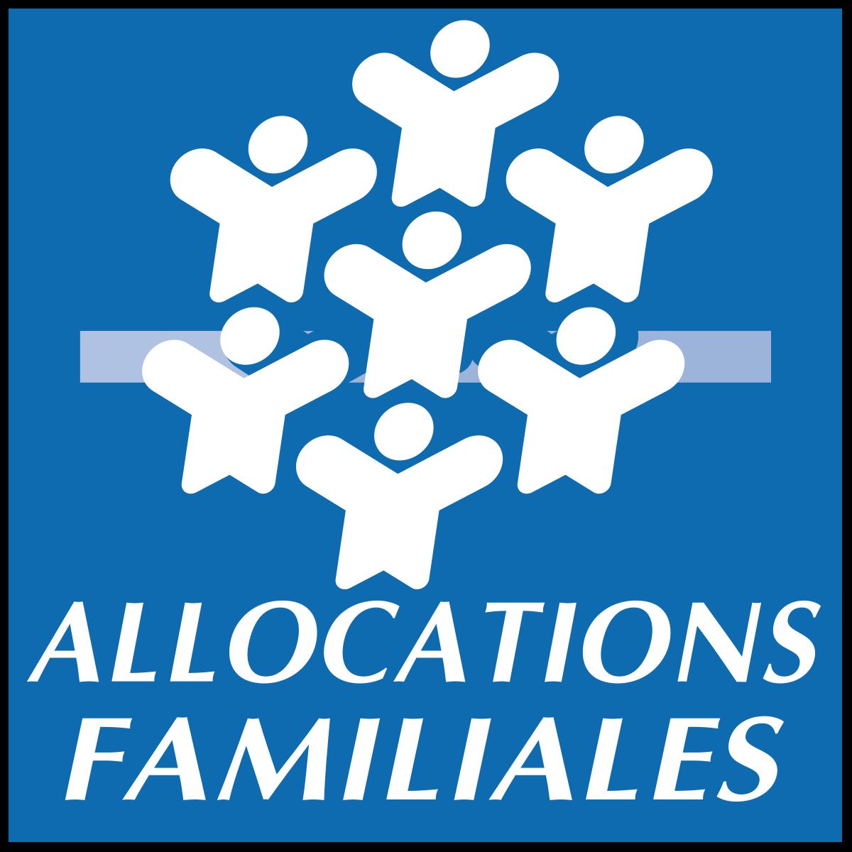 Logo de la Caisse d'Allocations Familiales, soutien d'Info Jeunes Bretagne